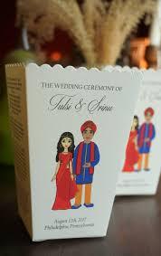 hindu wedding program indian emoji wedding program popcorn box petal box