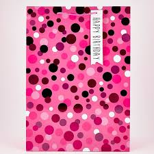 big gift bags pink polka dot happy birthday large gift bag card factory
