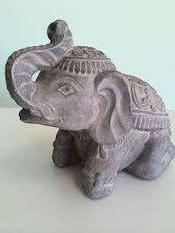 Elephant Statue Volcanic Ash Royal Elephant Chinaberry Tree