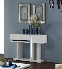 Wall Console Table Small Contemporary Modern White Console Table With Storage On Dark