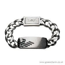 armani bracelet silver images Emporio armani men 39 s emporio armani black id bracelet 42 91 jpg