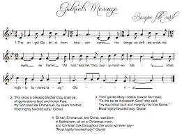 beth u0027s music notes gabriel u0027s message christmas song and games