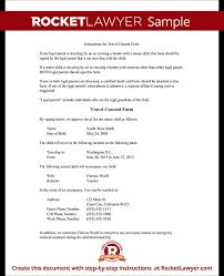 travel consent form permission to travel letter parental