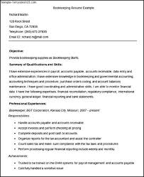 Resume Templates For Accountants Bookkeeping Resumes Best Bookkeeper Resume Example Livecareer