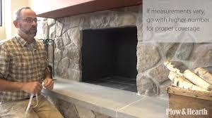 custom fireplace screens sku cstm30 plow u0026 hearth youtube