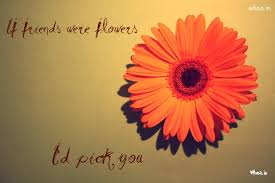 Flowers And Friends - happy friendship day quote with orange color flowers