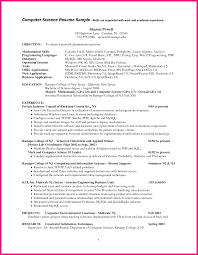 Resume Example Skills by 10 Computer Science Cv