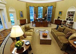 Gold Curtains In The Oval Office Does Obama Actually Work In The Oval Office