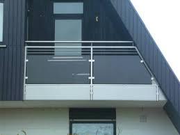 edelstahl balkon mit glas balkone