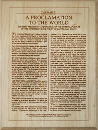 family proclamation the family a proclamation to the world 10x14 buyldsproducts