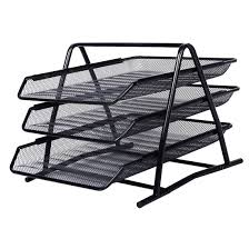 Wire Mesh Desk Accessories Sosw Office Filing Trays Holder A4 Document Letter Paper Wire Mesh