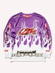 purple motocross gear buy 032c motocross long sleeve flames t shirt online at union los