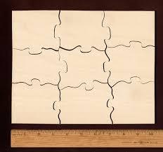 large wooden pieces plain wood puzzle 8 x 10 9 large pieces a cut wooden