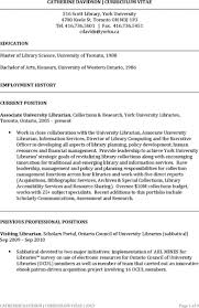 librarian resume example york university resume resume for your job application assistant librarian resume