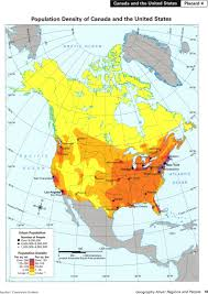 Population Density Map Of Canada by Bayes