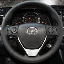toyota corolla steering wheel cover diy leather steering wheel cover for 2014 2015 2016 toyota corolla