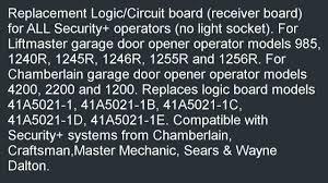 garage door opener circuit liftmaster garage door opener replacement circuit board for