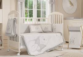 Complete Crib Bedding Sets Furniture Disney Gray Winnie The Pooh Crib Bedding Z Mesmerizing