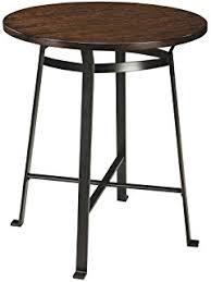 30 round bar table amazon com vilavita 30 to 34 adjustable height swivel round wood
