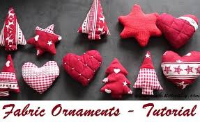 tutorial fabric ornaments tree sew historically
