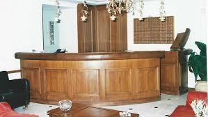 Circular Reception Desk by Circular Reception Desk Of Natural Walnut Techniki Xilou Ltd