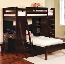 bedroom awesome rustic full size bunk bed with desk and stairs