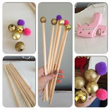 diy classroom pointers pompoms christmas ornaments wooden