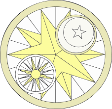 clipart sun and moon design
