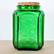 sunflower kitchen canisters shop green glass canisters on wanelo