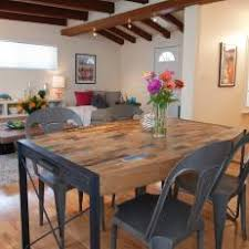 industrial dining room table photos hgtv