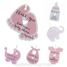 favor favor baby personalized pink baby shower favor tags gift tags summer