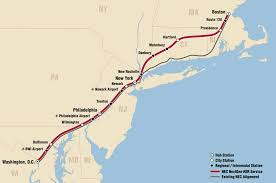 Amtrak Map East Coast by Real Transit