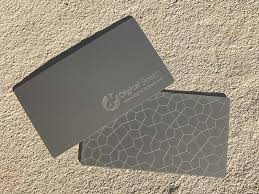Business Card Design Fee Plastic Business Cards Allow You To Get Noticed Over Cheap Paper Cards