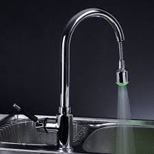 sinks and faucets led faucet aerator kitchen faucet with led