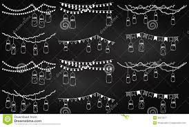 Mason Jar String Lights Vector Collection Of Chalkboard Style Mason Jar Lights Stock