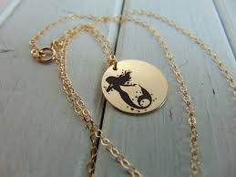 Necklace With Name Engraved Mermaid Necklace With Your Name Engraved In Front Personalize