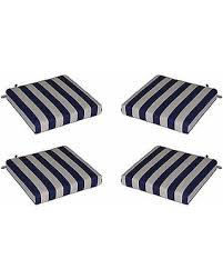 incredible deal on set of 4 indoor outdoor navy blue ivory