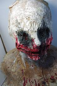 what would be the best way to make a burlap mask like this