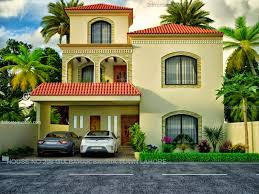 3d front elevation com lahore marla new house 3dfrontelevation