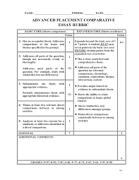 Writing Rubric Template  assignment refine teaching skills by     ThoughtCo