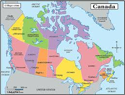 map of canada political map of canada with major cities travel maps and major