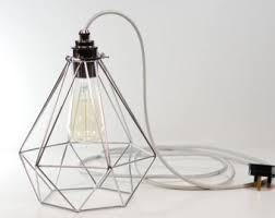 Cage Pendant Light Cage Pendant Light Etsy