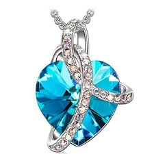 swarovski fashion necklace images Sivery quot love heart quot fashion pendant necklace made jpg