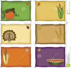 thanksgiving name tags stock photos image 16901023