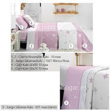 imagenes en blanco y rosa juego sábanas kalo blanco rosa de cañete