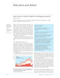 root causes of violent conflict in developing countries pdf