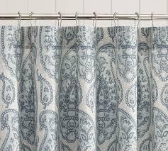 Blue Paisley Curtains Impressive Design Blue Paisley Shower Curtain Wonderful Looking