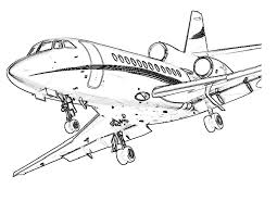 free printable airplane coloring pages kids