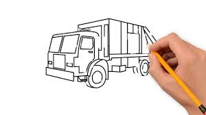 garbage truck transport pencil to draw step by step youtube