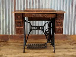 Singer Sewing Machine With Cabinet by Antique Vintage Singer Treadle Sewing Machine Cabinet Table No 5